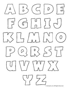 bubble letters alphabet worksheets and other printable a z alphabet letters
