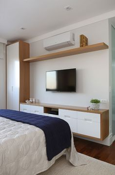Fitted Bedroom Furniture, Fitted Bedrooms, Master Bedroom Interior, Home Bedroom, Bedroom Decor, Small Modern Bedroom, Modern Small House Design, Living Room Tv Unit Designs, Minimalist Room