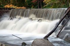 Waterfall along the Bronx River in Scarsdale, New York. - Peter Gaskill/Getty Images