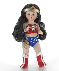 This fully articulated wendy doll is dressed as the amazing Wonder Woman from DC Comics. The Wonder Woman Madame Alexander Doll is wearing Wonder Woman's Toys For Girls, Kids Toys, Dc Comics Series, Annette Himstedt, Vintage Madame Alexander Dolls, John Wright, Charlie Bears, Hello Dolly, Geek Stuff