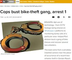 "Cops bust bike-theft gang, arrest 1  In an incredible use of #technology, #CCTVFootage shared on Whatsapp platforms helped Port division to bust a gang of bike thieves. Consequently, several two-wheelers were recovered. This story tells the importance and apt use of technology in #CCTVCameras. ""We have about a thousand #CCTV cameras at important junctions of the city. About 1500 more have recently been installed to keep an eye on isolated areas,"" said Joint CP (crim) Vishal Garg. Read more…"
