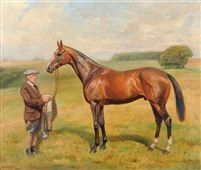 The racehorse Scherzo 5 years by Alfred Grenfell Haigh