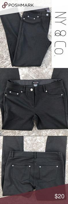 NWOT NY & Co. Black Skinny Leg Jeggings Jeans 2 The blackest black.  New without tags.  Skinny leg soft stretch jeans.  Size 2. New York & Company Jeans Skinny