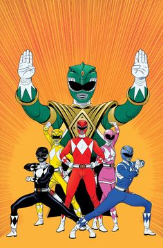 Mighty Morphin' Power Rangers #1 Unused Variant - Tradd Moore, Colors: Rico Renzi