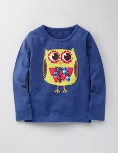 Browse our range of girls' tops & t-shirts at Boden. Pick comfy cotton tees for every day or shop fun tops with embellished designs sure to stand out. Cute Outfits For Kids, Cute Kids, Owl Shirt, Mini Boden, Little Dresses, Online Shopping Clothes, Nice Tops, Tee Shirts, Graphic Sweatshirt