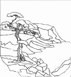 free landscape coloring pages   teaching kids   pinterest   coloring pages, adult coloring pages