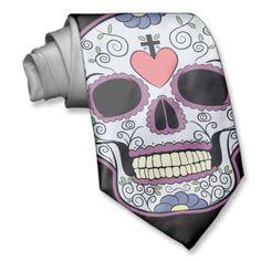 Sugar skull tie #DiaMuertosATX