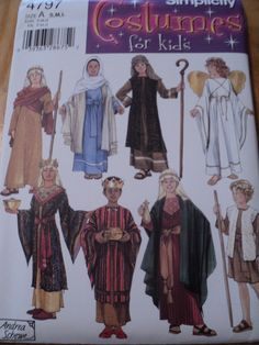 Sewing Pattern Simplicity Childs Nativity Costume Pattern 4797 from Mjcreation $5.00