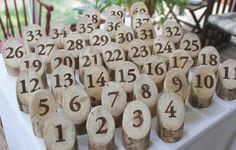 Wedding Table numberstable markerslog table numbersrustic