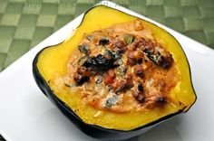 Spicy Stuffed Acorn Squash - Thyme for Cooking, Blog