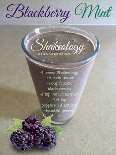 Try this Blackberry Mint Shakeology recipe! Absolutely delicious! The perfect blend of fruit and mint! Also, a great remedy for fit mom morning sickness! Check this out and more at http://www.thefitandfreemama.com/recipes.html