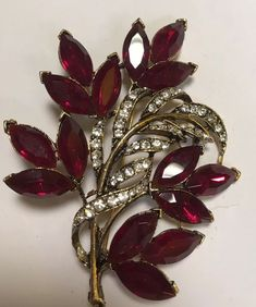 afc0f2e28b3 Vintage Signed Weiss Christmas Flower Brooch #Weiss Vintage Costume  Jewelry, Vintage Costumes, Vintage