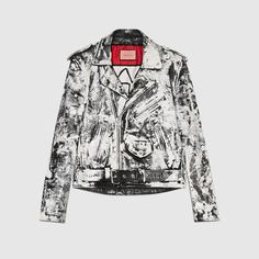 GUCCI Guccighost Biker Jacket. #gucci #cloth #men's bombers & leather jackets