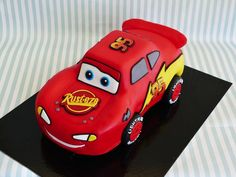Order excellent mcqueen car theme cake online - birthday cake in bangalore, free home delivery Lightning Mcqueen Birthday Cake, Lightning Mcqueen Cake, Lightening Mcqueen, Cars Theme Cake, Car Themes, Online Birthday Cake, First Birthday Cakes, Boy Birthday, Mc Queen Cars