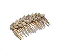 Gold+Hair+CombGreek+Goddess+Hair+Comb+Leaf+Hair+by+YaelSteinberg,+$36.90