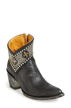 Old Gringo 'Clovis' Studded Western Bootie leather black 5.5sh 2.25h (529.95) NA 2/16