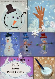 Making Snow Puffy Paint #kids #crafts