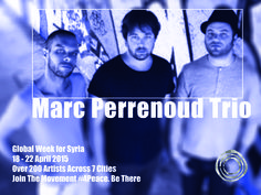 Marc Perrenoud Trio is a dutch band.  Musicians: Marc Perrenoud - piano  Cyril Regamey - drums Marco Muller - double bass