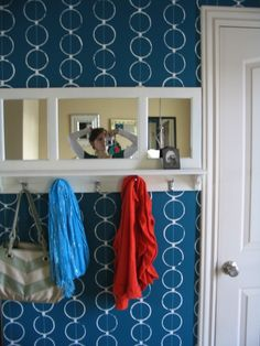 DIY Stenciled Walls at www.sawdustgirl.com Did this as an accent wall! It looked fantastic!