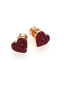 Michael Kors - Brilliance Rose Pavé Heart Stud Earrings
