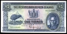 New Zealand - 1934 - 5 pounds