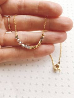 Mother Morse Code Necklace / Mothers Day Gift from Dsufgter / Mother Necklace / Gift for Mom Antique Jewellery Designs, Gold Jewellery Design, Gold Jewelry Simple, Jewelry For Her, Indian Wedding Jewelry, Bridal Jewelry, Gold Chain Design, Mother Necklace, Morse Code