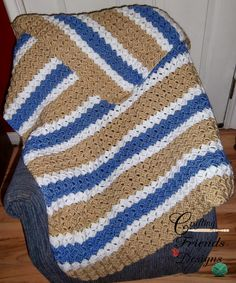 Free Crochet Pattern: Crafting Friends Designs: Brick Stitch Afghan