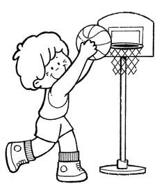 basketball - free coloring pages | Coloring Pages
