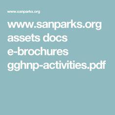 www.sanparks.org assets docs e-brochures gghnp-activities.pdf