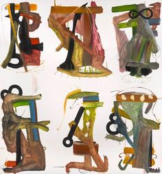 Fiona Rae RA, Untitled (six on brown), 1989.