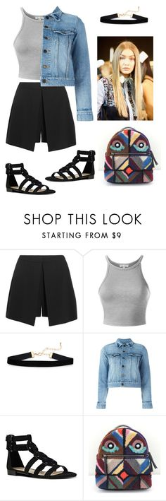 """""""Untitled #531"""" by miiirrra ❤ liked on Polyvore featuring Alexander McQueen, Yves Saint Laurent, Nine West and Fendi"""