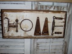 Amish Made Recycled Antique Hardware Sign | Amish Art & Wall Hangings | Amish Art and Framing 8019