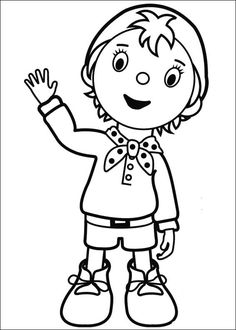 Noddy Coloring Pages 67