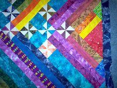 Modern Art Quilts | Modern Art Quilt TOP Batik Fabrics | Fiber Art & Quilts