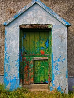 Paint Effects, Old Cottage, Bunmahon, County Waterford, Ireland Photographic Print at Art.com