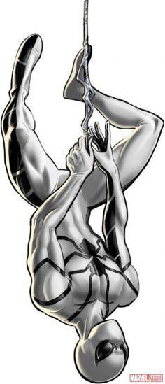 Spider-Man (alternate costume) character model from Marvel: Avengers Alliance Marvel Avengers Alliance, Marvel Vs, Marvel Dc Comics, Marvel Heroes, All Spiderman, Amazing Spiderman, Spiderman Costume, Heros Comics, Mundo Marvel