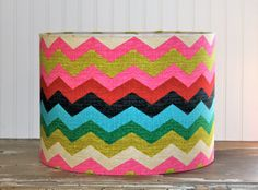 This is one vibrant lampshade.
