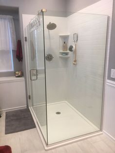 Take the guesswork out of designing and ordering a custom cultured marble or granite shower pan. Innovate Building Solutions offers free design assistance and a wide range of shapes, sizes and color options. Shower Drain, Shower Base, Shower Floor, Shower Curb, Shower Tiles, Shower Enclosure, Big Bathrooms, Small Bathroom, Bathroom Ideas