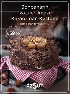 Sonbaharın vazgeçilmezi Karaorman Kestane, usta ellerin tavsiyesiyle... Elsa, Cereal, Events, Breakfast, Cake, Desserts, Food, Happenings, Pie Cake