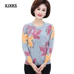 c9a9f3a181a Xjxks Sweater Women Knitted Cardigan Sweaters Autumn Winter Clothes Plus  Size Women Vintage High-End Warm Sweater