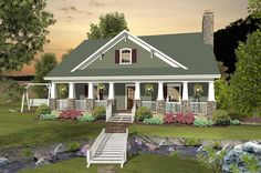 <!-- Generated by XStandard version 2.0.0.0 on 2014-04-07T14:35:08 --><ul><li>This country Craftsman house plan is perfect for your sloping lot with its drive-under garage and back porch.</li><li>You'll enjoy the open floor plan on the main floor with the family room open to the country kitchen.</li><li>Two bedrooms are on the main floor, including one with access to the porch that spans the entire width of the home.</li><l...