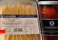 Gluten Free??... We Love our GF Pasta and sauces