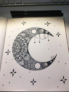 It make you cracked form the inside. Easy Mandala Drawing, Mandala Art Lesson, Doodle Art Drawing, Mandala Artwork, Zentangle Drawings, Art Drawings Beautiful, Art Drawings Sketches Simple, Pencil Art Drawings, Easy Drawings