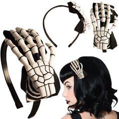 Skeleton hand hair band ❤
