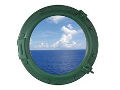 Seaworn Green Decorative Ship Porthole Window 20""