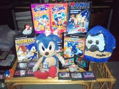 My personal Sonic the Hedgehog collection (as of 6/2011)!!!