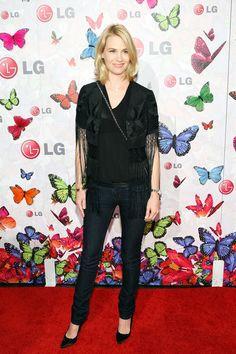 January Jones Photos: LG Mobile Phones And Heidi Klum Celebrate LG Rumorous Night