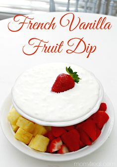 Last Minute Easter Recipe ~ French Vanilla Fruit Dip #EasterIDeas