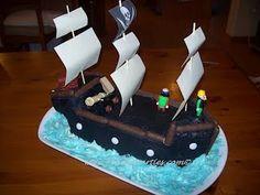 Piratenschiffkuchen, Pirate Ship Cake, Kindergeburtstag, Kinderkuchen, Kuchen
