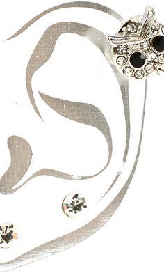 'PARIS' CRYSTAL STONE EAR CUFF EARRING - So Sexy Fashion